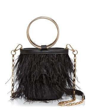 FEATHER RING CROSSBODY
