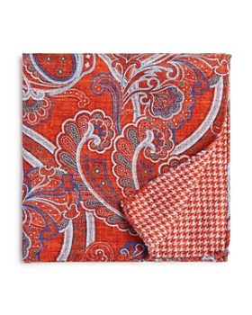 The Men's Store at Bloomingdale's - Paisley/Houndstooth Pocket Square - 100% Exclusive