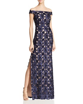 Aidan Mattox - Embellished Off-the-Shoulder Gown