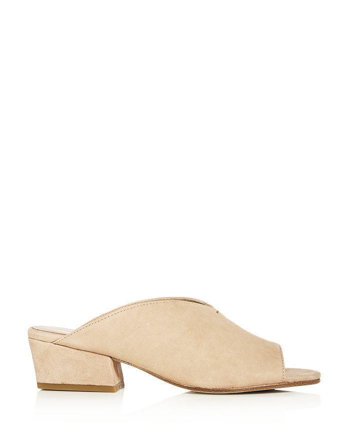 ac8895178983 Eileen Fisher - Women s Katniss Nubuck Leather Block Heel Slide Sandals