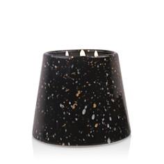 Paddywax - Confetti Black Ceramic Violet & Plumeria Three-Wick Candle