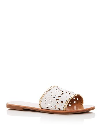 Jack Rogers - Women's Delilah Perforated Leather Slide Sandals
