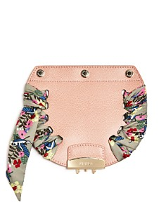Furla - MY PLAY Interchangeable Metropolis Mini Floral Print Scarf Leather Flap
