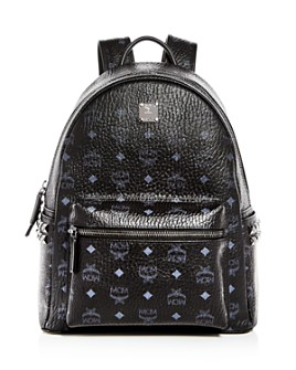 MCM - Stark Visetos Medium Studded Backpack