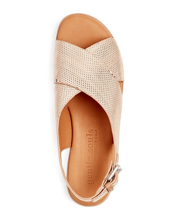 80d97a81190 Gentle Souls by Kenneth Cole - Women s Kiki Perforated Leather Slingback Platform  Sandals