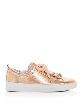 Ted Baker - Women's Kellei Leather Lace Up Sneakers
