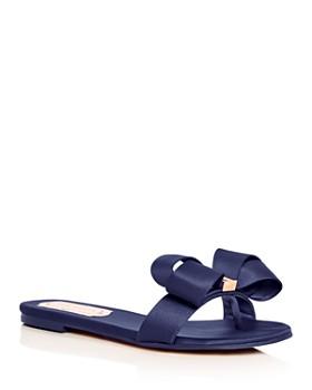 Ted Baker - Women's Beauita Satin Bow Slide Sandals