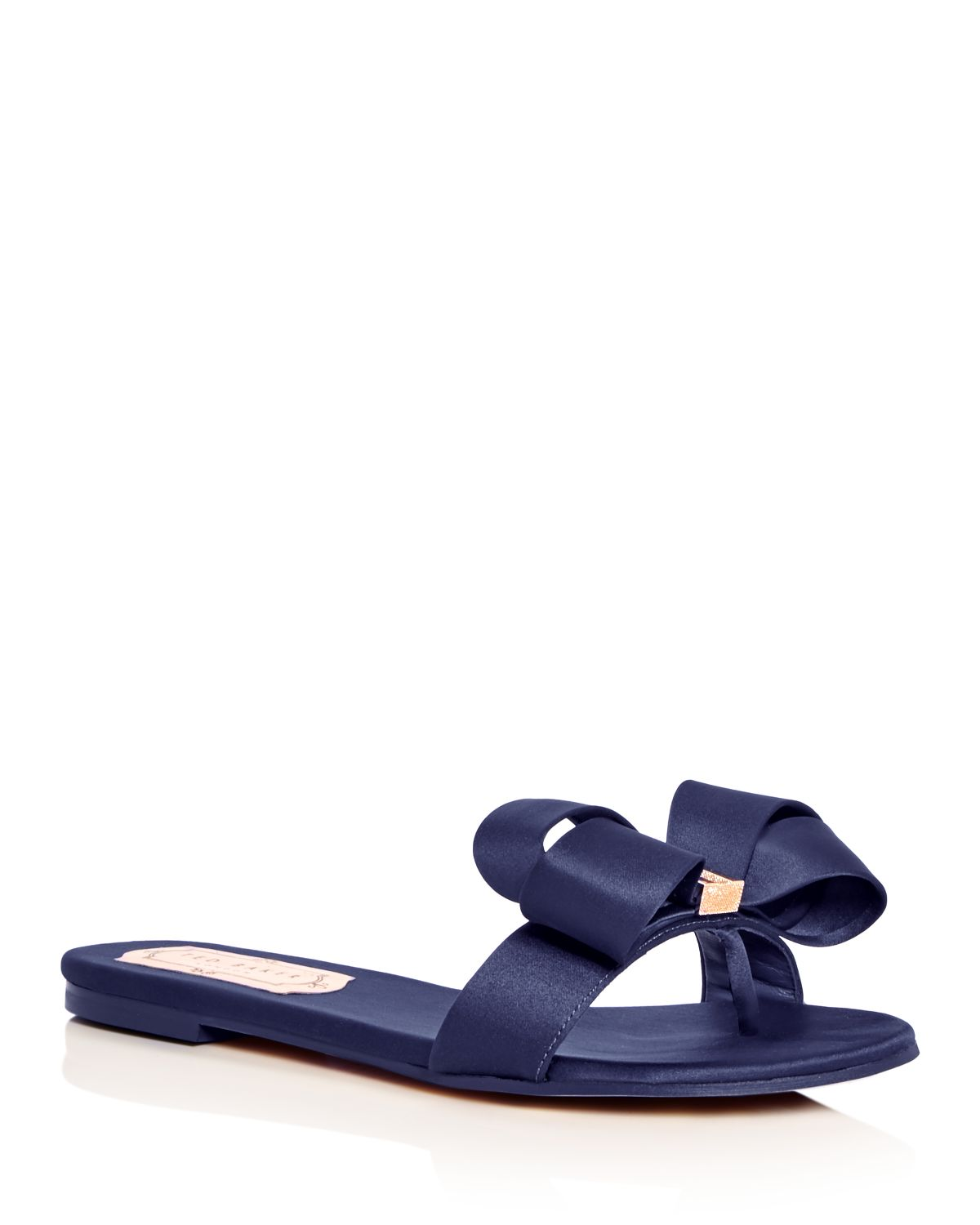 Women's Beauita Satin Bow Slide Sandals by Ted Baker