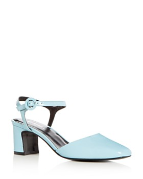 Carel - Women's Patent Leather Block Heel Pumps