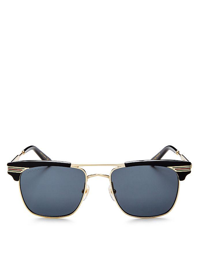 Gucci - Men's Brow Bar Square Sunglasses, 55mm