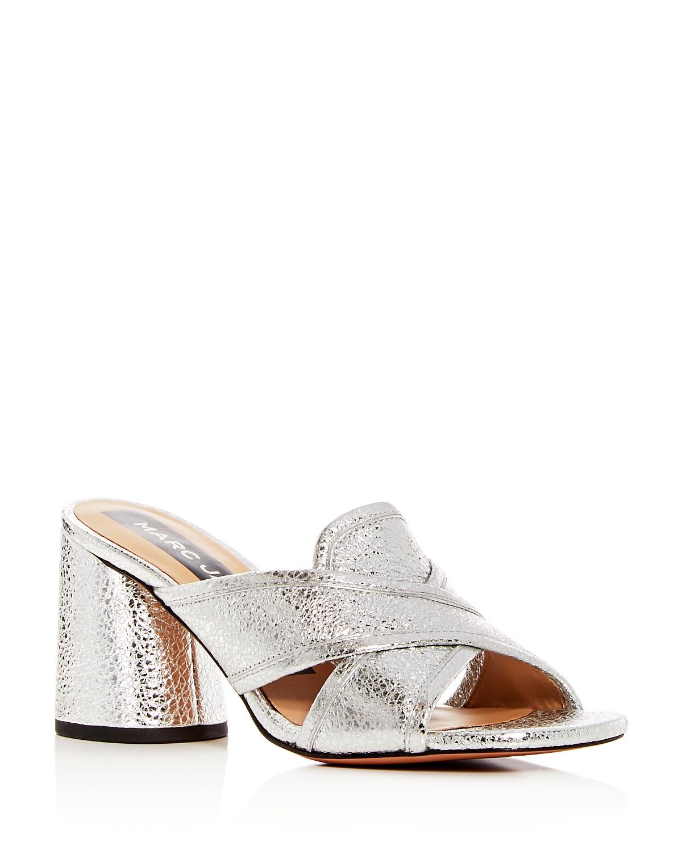 Marc Jacobs Women's Aurora Leather Crisscross High-Heel Slide Sandals qcddD0OVbH