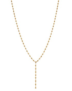 "Moon & Meadow - Diamond-Cut Beaded Y Necklace in 14K Yellow Gold, 18"" - 100% Exclusive"