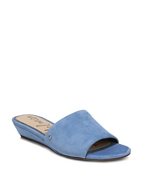 Sam Edelman - Women's Liliana Suede Demi Wedge Slide Sandals