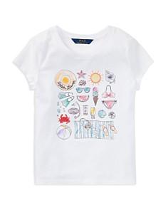 Polo Ralph Lauren Girls' Beach Day Graphic Tee - Big Kid - Bloomingdale's_0