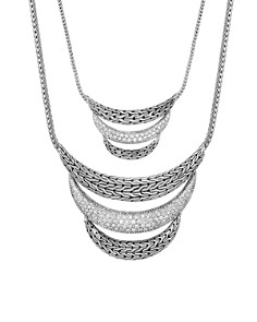 JOHN HARDY - Sterling Silver Classic Chain Pavé Diamond Small Arch Necklace - 100% Exclusive