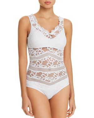 Becca by Rebecca Virtue Captured Crochet One Piece Swimsuit