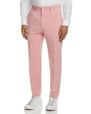 Boss Linen Solid Slim Fit Dress Pants