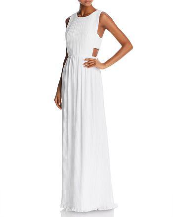 BCBGMAXAZRIA - Pleated Column Gown - 100% Exclusive