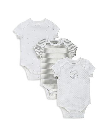 Little Me - Boys' Welcome World Bodysuit, 3 Pack - Baby