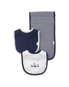Little Me - Boys' Nautical Bibs & Burp Cloth Set - Baby