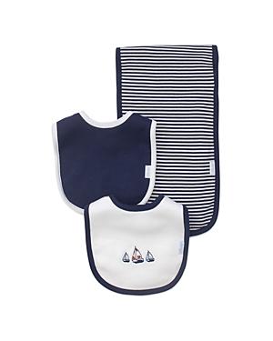 Little Me Boys Nautical Bibs  Burp Cloth Set  Baby