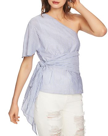 1.STATE - One-Shoulder Wrap Top