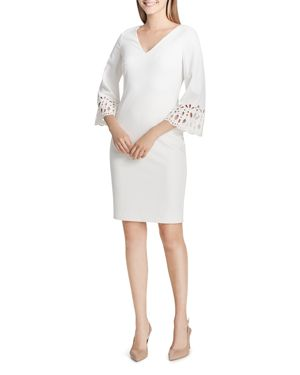 Calvin Klein Eyelet Bell-Sleeve Dress 2865361
