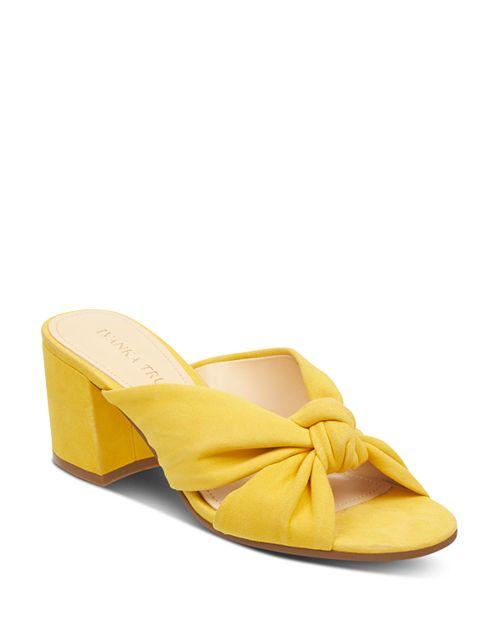 IVANKA TRUMP - Women's Earin Suede Block Heel Slip On Sandals
