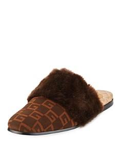 Gucci - Men's Lawrence Faux Fur Mules