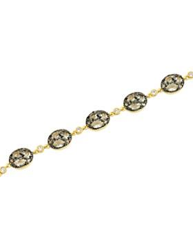 Freida Rothman - Rose d'Or Pavé Cluster Toggle Bracelet