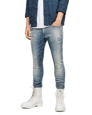 G-STAR RAW 3301 Deconstructed Skinny Fit Jeans In Light Vintage in Lor