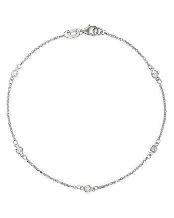 Bloomingdale's - Diamond Station Bracelet in 14K White Gold, 0.10 ct. t.w. - 100% Exclusive