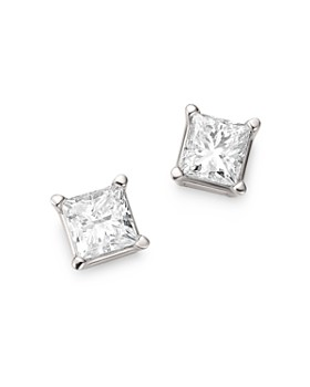 Bloomingdale's - Diamond Princess-Cut Studs in 14K White Gold, 1.0 ct. t.w. - 100% Exclusive
