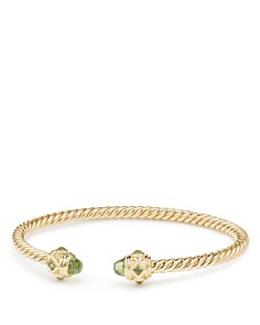 David Yurman - Renaissance Bracelet with Peridot in 18K Gold