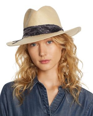 ALE BY ALESSANDRA Ale By Alessandra Luca Straw Hat in Natural/Dark Gray