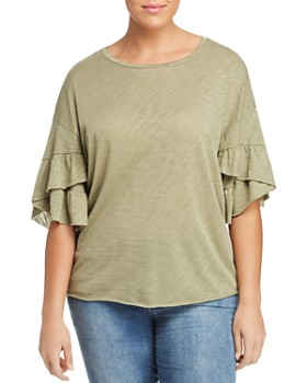 Elan Plus - Ruffle-Sleeve Tee