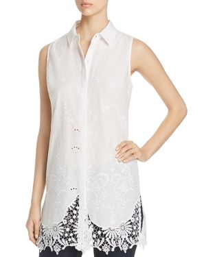 SABINA EMBROIDERED LACE TUNIC TOP