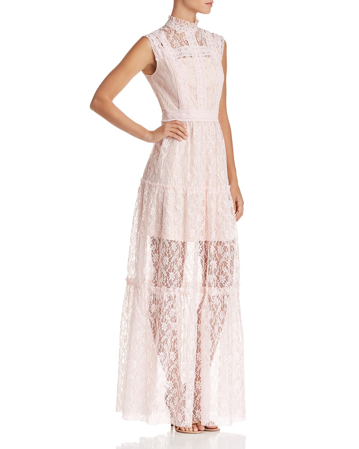 Tiered Lace Maxi Dress   100 Percents Exclusive by Aqua