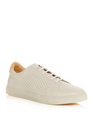 PAIRS IN PARIS MEN'S NO. 2 PERFORATED LEATHER LACE UP SNEAKERS - 100% EXCLUSIVE