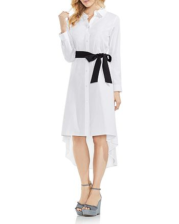 VINCE CAMUTO - High/Low Belted Shirt Dress