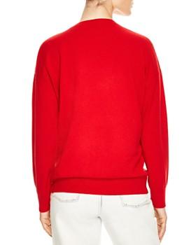 Sandro - Sorella Happening Wool & Cashmere Graphic Sweater