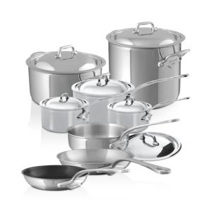 Mauviel M'Cook Stainless Steel 14-Piece Cookware Set 2905961