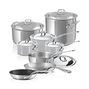 Mauviel M'Cook Stainless Steel 14-Piece Cookware Set