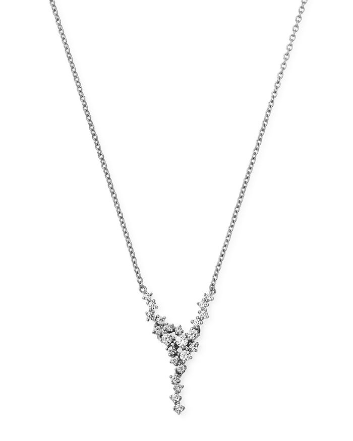 Bloomingdale's - Diamond Cascade Necklace in 14K White Gold, 0.35 ct. t.w. - 100% Exclusive