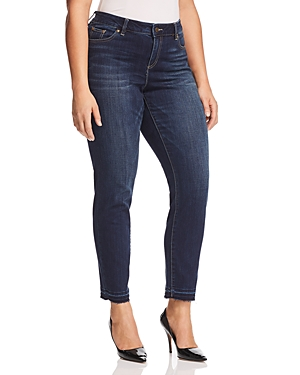 New Vince Camuto Plus Essential Released-Hem Jeans in Dk Authentic, DK Authentic