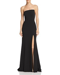 AQUA - Strapless Scuba-Crepe Gown - 100% Exclusive