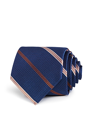 The Men's Store at Bloomingdale's Textured Dot Stripe Classic Tie - 100% Exclusive
