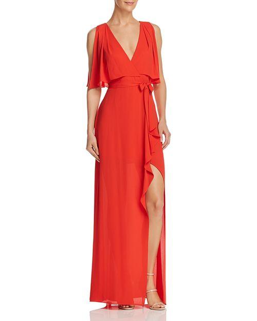 BCBGMAXAZRIA Faux Wrap Gown - 100% Exclusive | Bloomingdale\'s