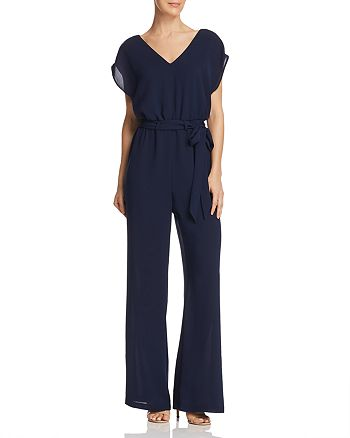 Adrianna Papell - Belted Wide-Leg Jumpsuit
