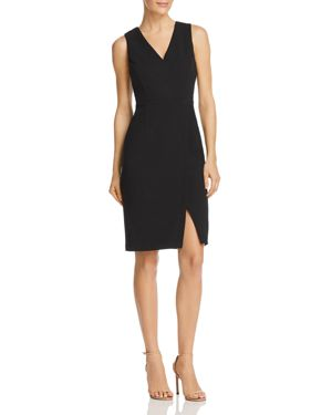 Adrianna Papell Crepe Faux-Wrap Dress 2867492